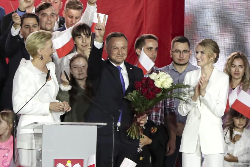 El presidente de Polonia y candidato a la reelección, Andrzej Duda