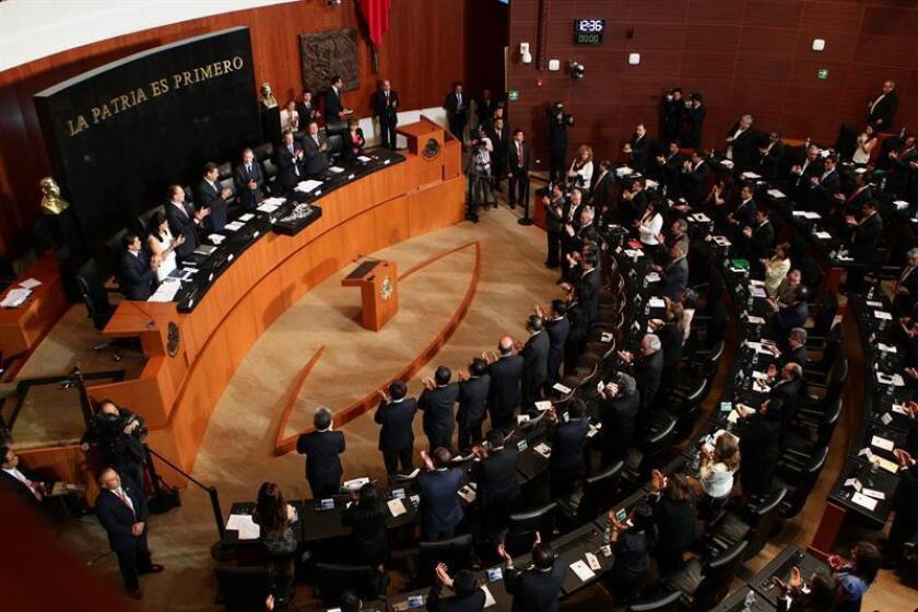 Vista general de una sesión en la Cámara de Senadores de México. EFE/Archivo