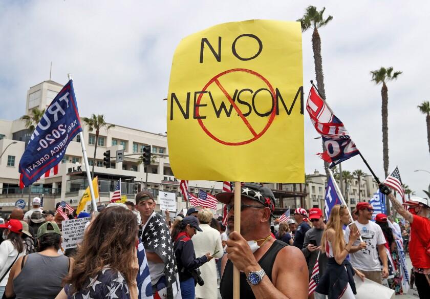 Newsom protest