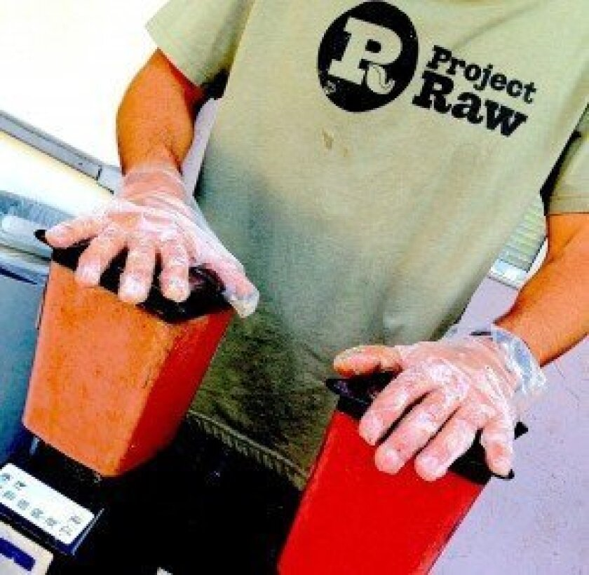 In 2013, Project Raw served more than 22,000 smoothies to food insecure  people in San Diego County.  Courtesy photo