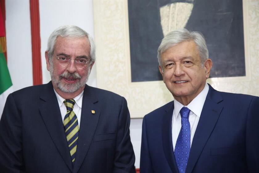 López Obrador pide a rector de la UNAM privilegiar diálogo con estudiantes