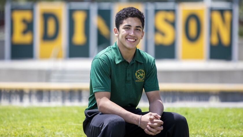 Edison's Elijah Palacio is the Daily Pilot Wrestling Dream Team Athlete of the Year.