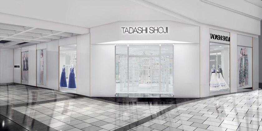 The exterior of Tadashi Shoji's Westfield Valley Fair Mall store.