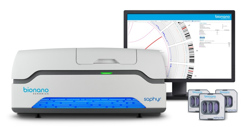 The Saphyr DNA sequencing system from Bionano Genomics.