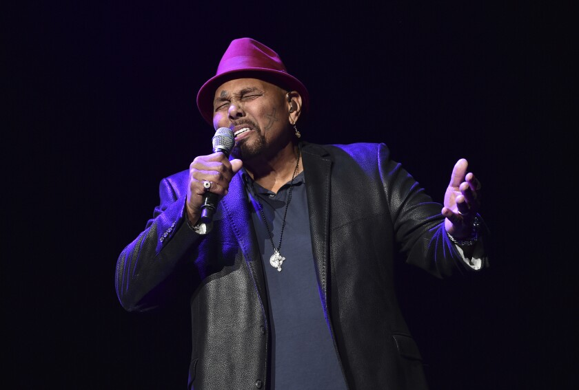 FILE - In this Saturday, Jan. 6, 2018 file photo, Singer Aaron Neville performs during A Concert For Island Relief at Radio City Music Hall in New York. Fans of the sweet, melodic sounds of New Orleans' legendary vocalist Aaron Neville won't have many opportunities to hear him live from now on. In posts Tuesday, May 4, 2021 on his official website and via social media, Neville announced his official retirement from touring.(Photo by Evan Agostini/Invision/AP)
