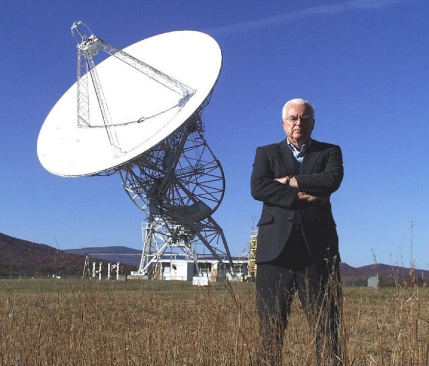 Astronomer Frank Drake  at the Green Bank observatory in West Virginia, among the first sites for astrobiological research.