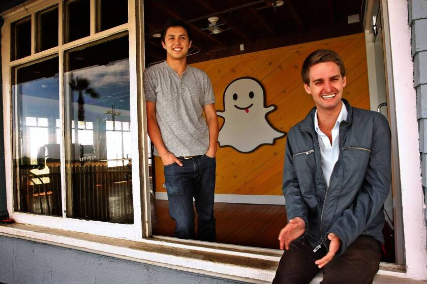 Is Snapchat poised to be L.A.'s tech start-up star?