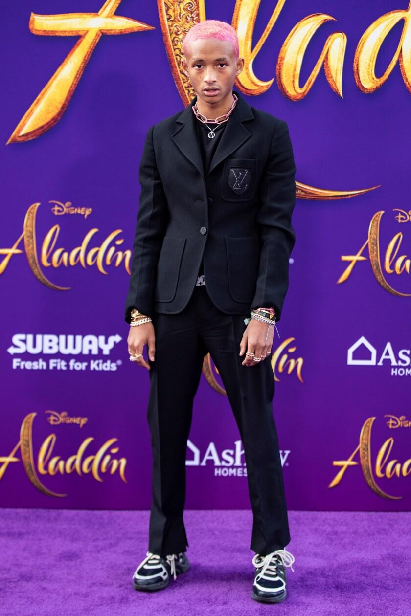 El actor estadounidense Jaden Smith .
