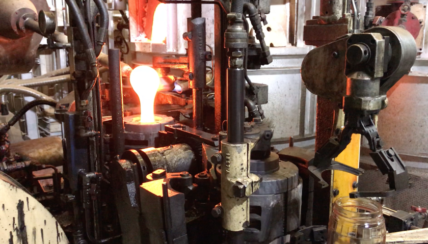 Glass melted down from the Beirut blast is used to make glassware in this factory in Tripoli, Lebanon.