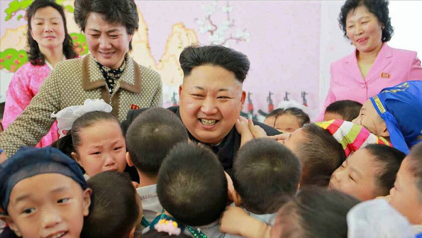 Kim Jong-un at orphanage