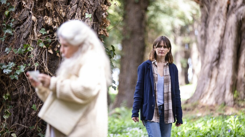 """Robyn Nevin, left, and Emily Mortimer in Natalie Erika James' """"Relic."""""""