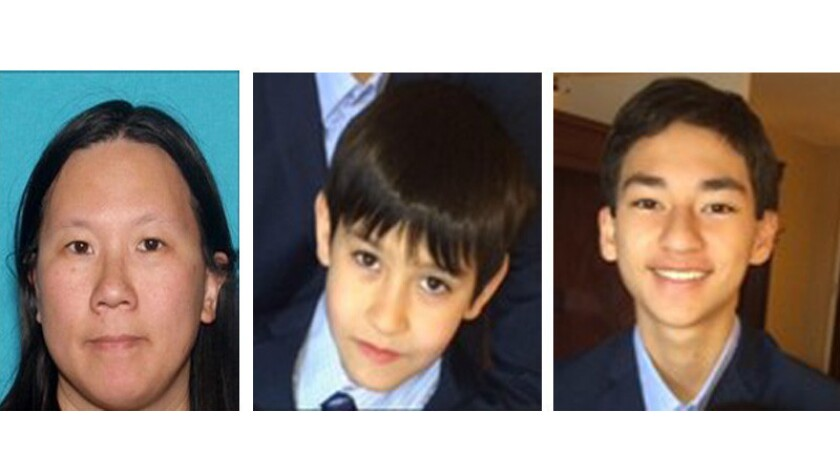Brothers Isaac, 9, and Sage, 15, Cook, of Bellevue, Wash., were last seen Aug. 28 at Los Angeles International Airport and may be in the company of their mother, Faye Ku, 41.