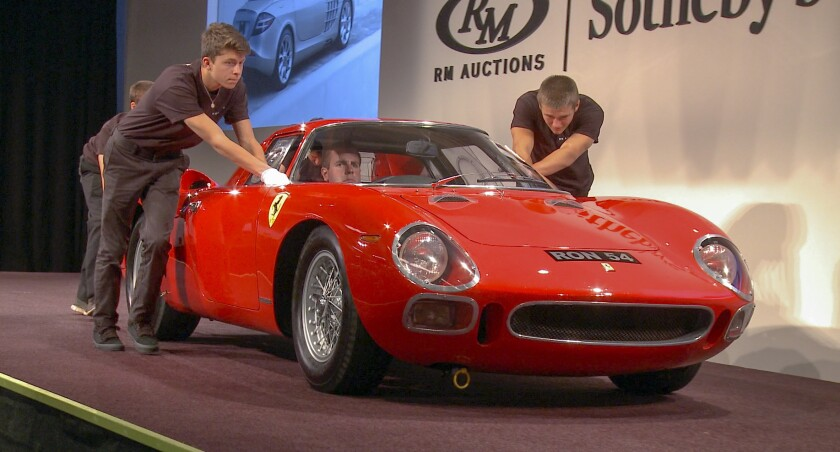 A 1964 Ferrari 250 LM sold for $17.5 million at RM Sotheby's on Aug. 17 at Monterey Car Week.