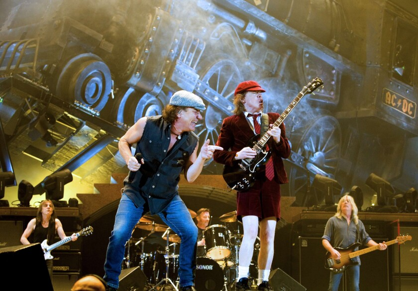 AC/DC, shown here in 2009, are scheduled to headline Friday's Coachella bill.