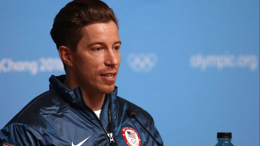 Gold medalist snowboarder Shaun White of the United States speaks during a press conference at the Main Press Centre during the PyeongChang 2018 Winter Olympic Games.