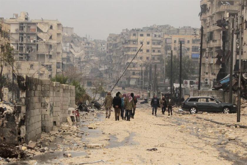 """Naciones Unidas dijo hoy que sigue sin obtener autorización para llegar a ciertas partes de la ciudad siria de Alepo y subrayó que ese acceso es """"clave"""" para poder proteger y ayudar a la población civil. EFE"""