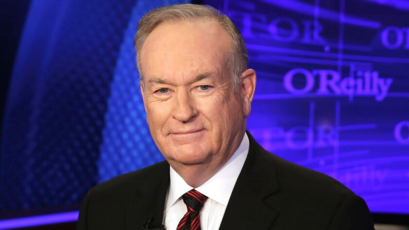 """Bill O'Reilly of the Fox News Channel program """"The O'Reilly Factor, """" poses for photos in New York."""