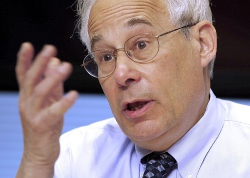 Donald Berwick speaks during an interview in April.