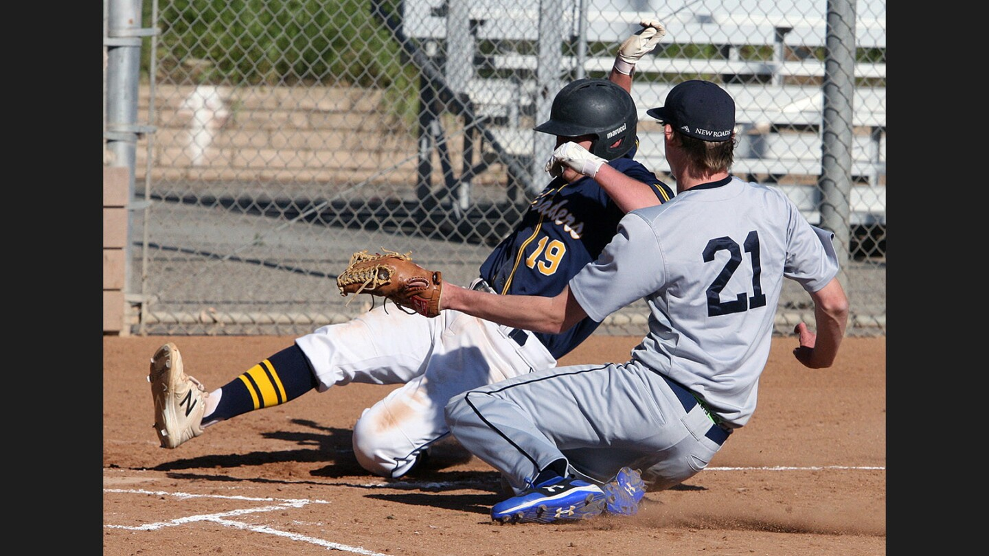 Photo Gallery: St. Monica Academy vs. New Roads baseball
