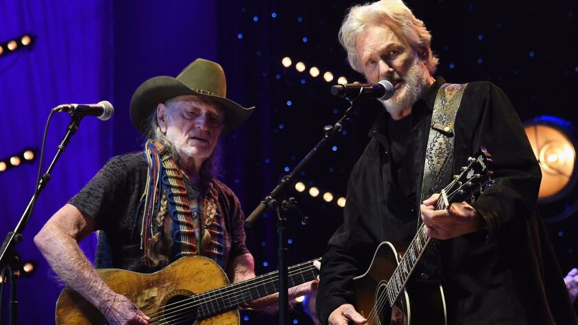 "Willie Nelson, left, and Kris Kristofferson are featured in ""The Life and Songs of Kris Kristofferson"" on CMT."