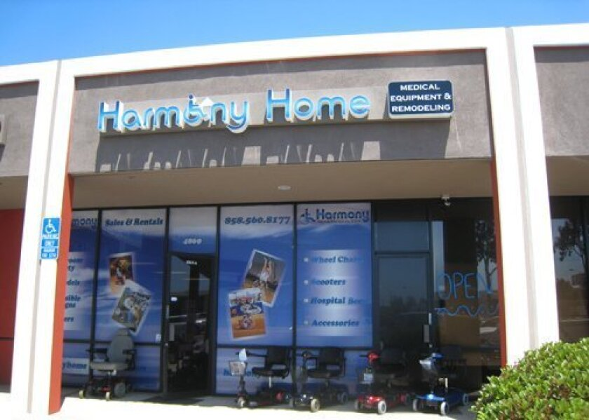 Harmony Home Medical's showroom at 4885 Convoy St. in San Diego, offers a wide selection of wheelchairs, walkers, scooters, power chairs and more.