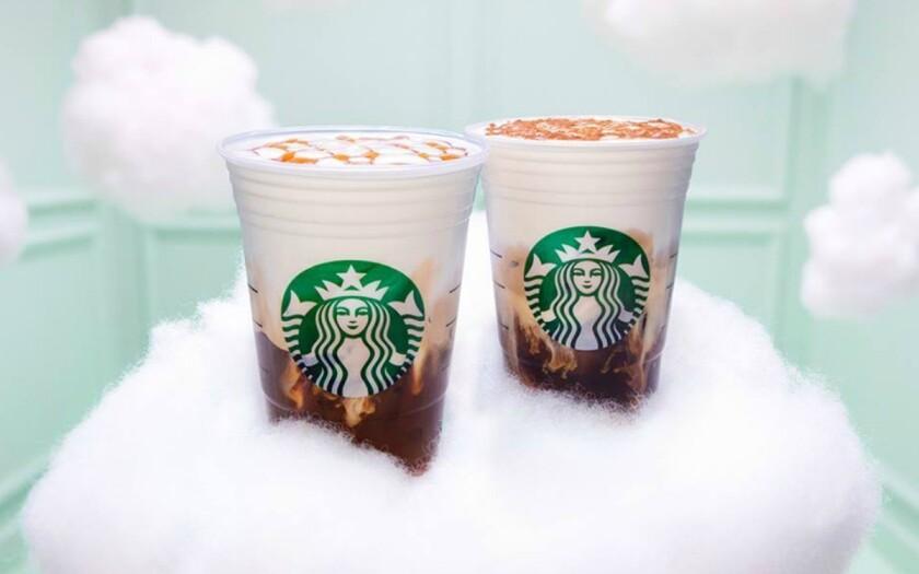 Starubcks has added Iced Cloud Macchiatos to menus.
