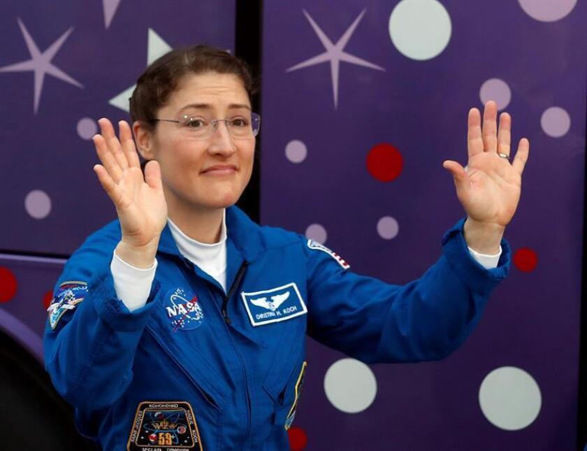 En la imagen, la astronauta estadounidense de la NASA Christina Koch. EFE/Archivo