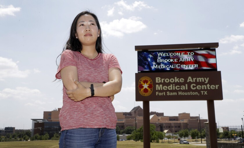 Yea Ji Sea, 29, a former healthcare specialist and pharmacy technician specialist in the U.S. Army born in South Korea, was at risk of deportation after more than four years of service. On Friday, she received notice that her application for U.S. citizenship had been approved.