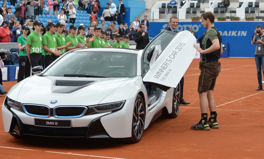 Bmw Of Murray >> Andy Murray Wins Rain Delayed Bmw Open And New Car Los Angeles Times