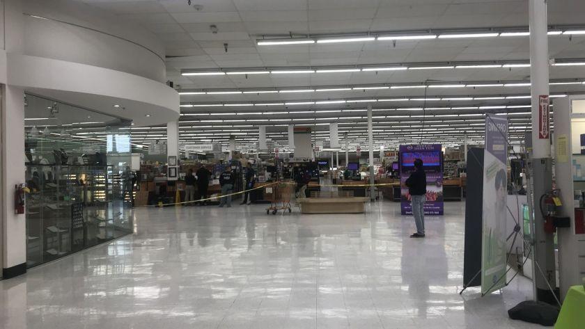 ICE agents search Zion Market in Kearny Mesa on Feb. 13, 2019.