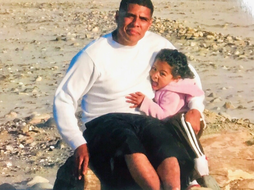 Undated  photo of Daniel Hernandez with his daughter Melanie.