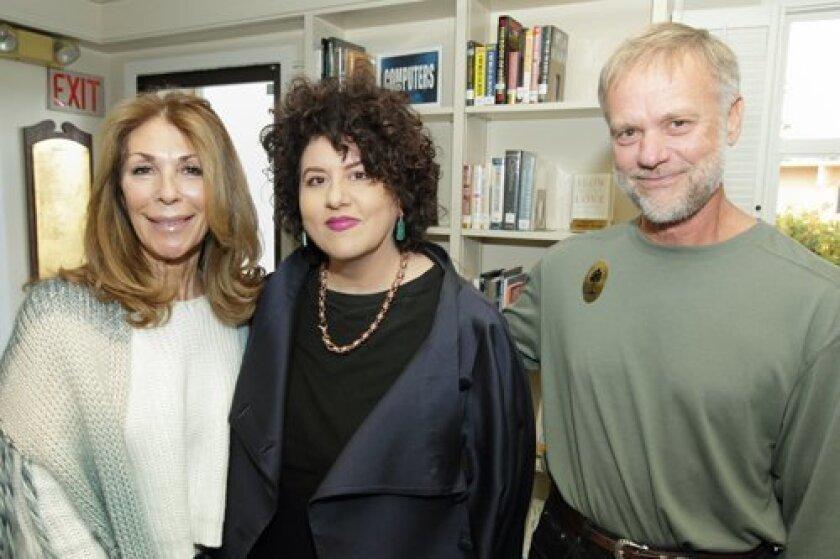 Betsy Bracis, author Adriana Trigiani, Bruce Munter