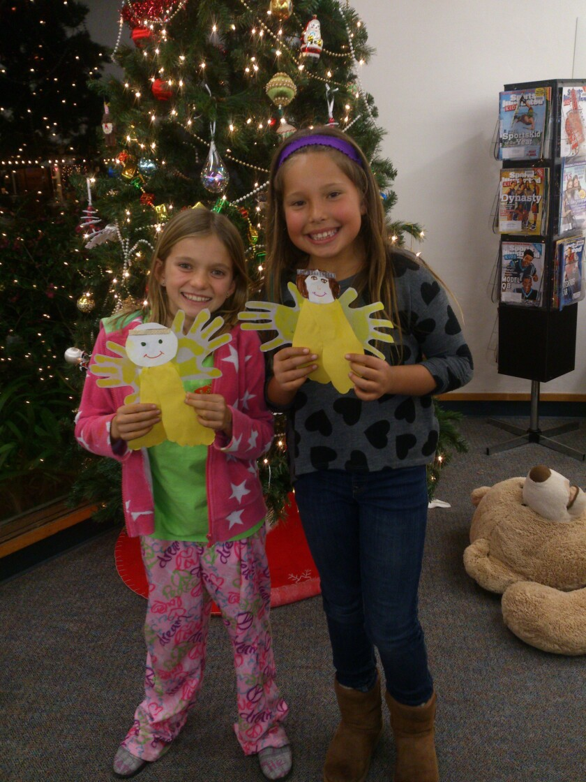 Library becomes magical at Winter Family Night