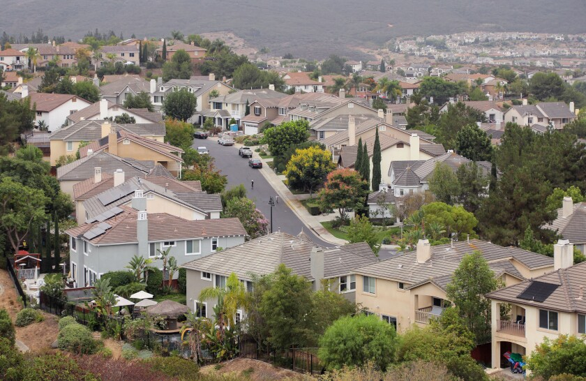 Homes in the San Elijo area in south San Marcos.