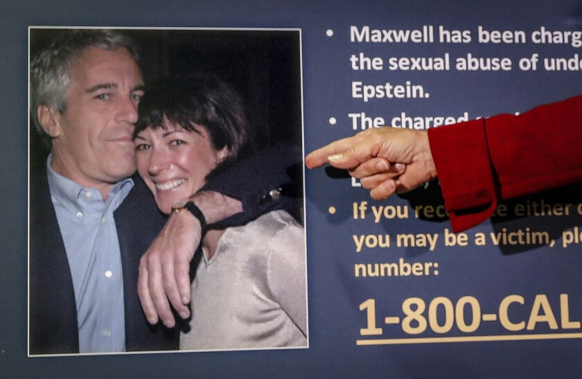 Photo of Jeffrey Epstein and Ghislaine Maxwell