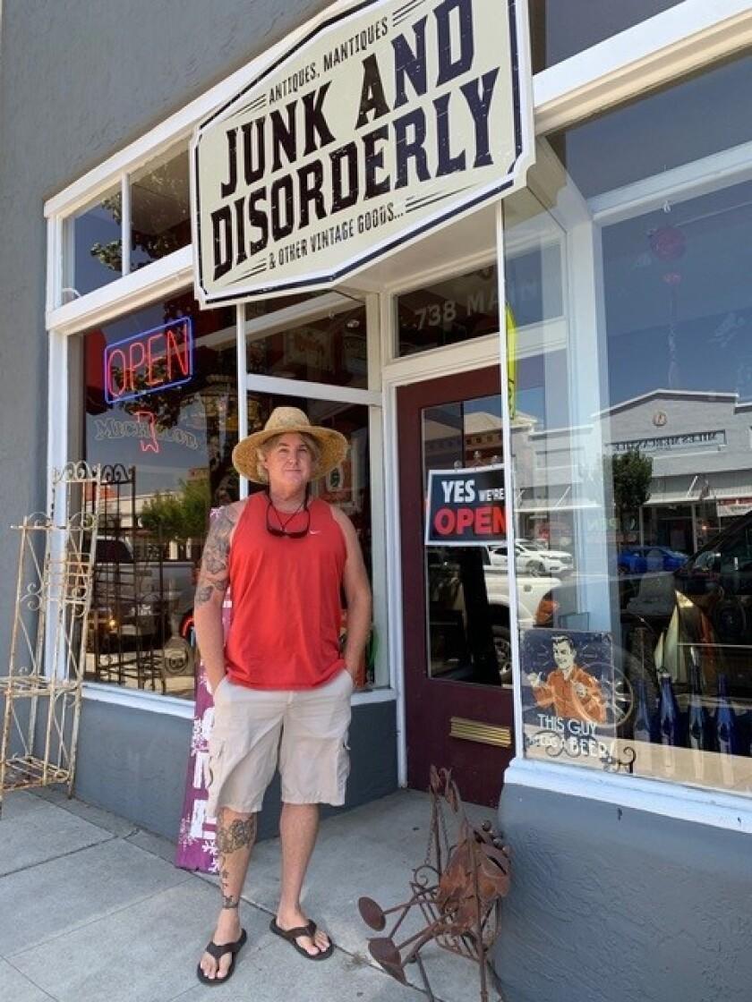 Pete Nilsson says his recently opened Ramona store, Junk and Disorderly, is filled with items that make shoppers happy.