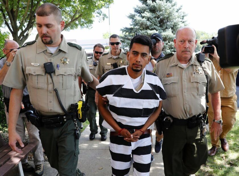 Iowa farmhand Cristhian Rivera pleaded not guilty Wednesday in the July knife slaying of college student Mollie Tibbetts.