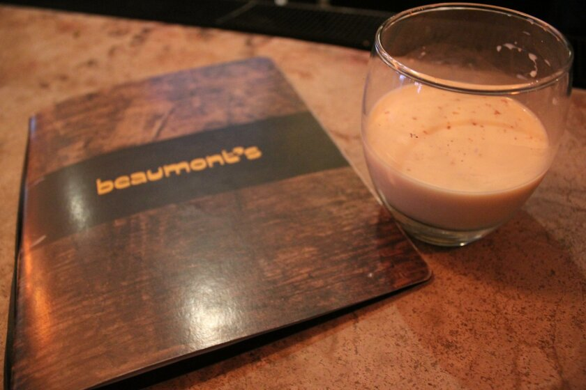 Requiring five weeks of fermentation with cloves and allspice, the homemade eggnog at Beaumont's comes from a recipe provided to the eatery's executive chef from his mother's friend. Including rum, brandy and bourbon, its limited supply will be available only up to Christmas.
