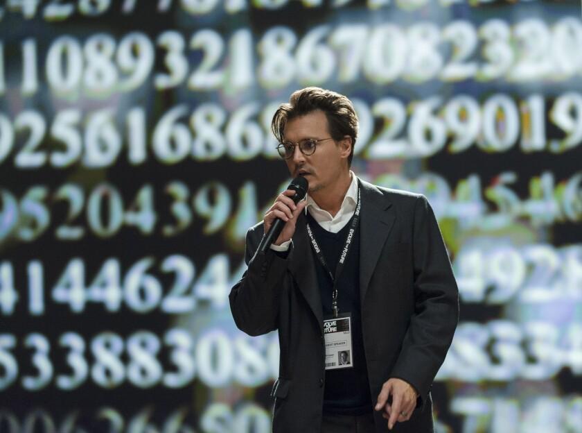 """Johnny Depp in """"Transcendence."""""""