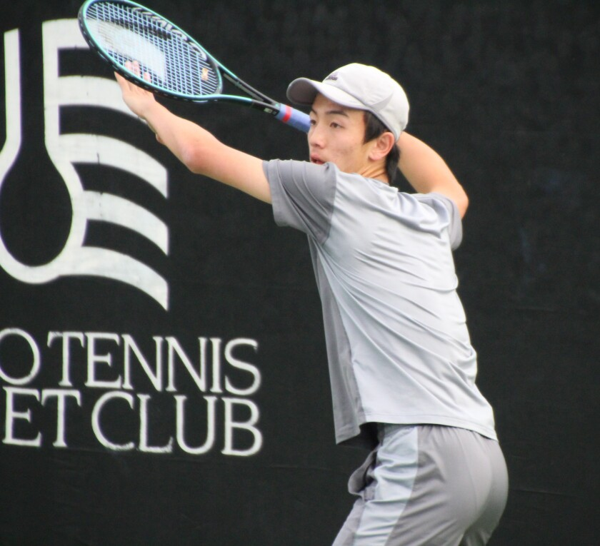 Francis Parker's Derek Wong credits mother Kathy for teaching him everything he knows about tennis.