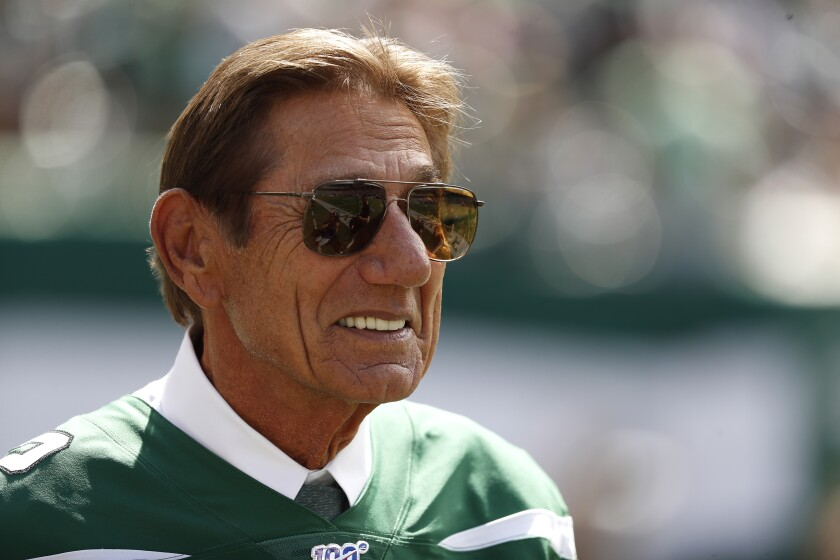Joe Namath can relate to what Tom Brady will be going through when the long-time Patriots quarterback joins the Buccaneers.