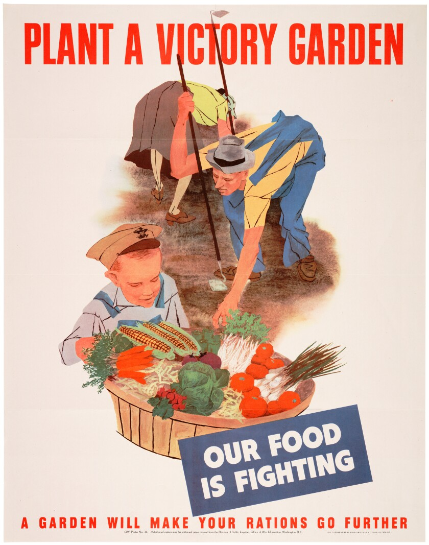 """""""Plant a Victory Garden"""" WWII poster."""