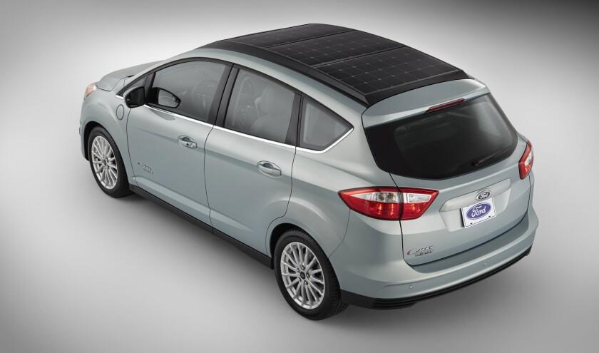 Ford's C-Max Energi solar concept car
