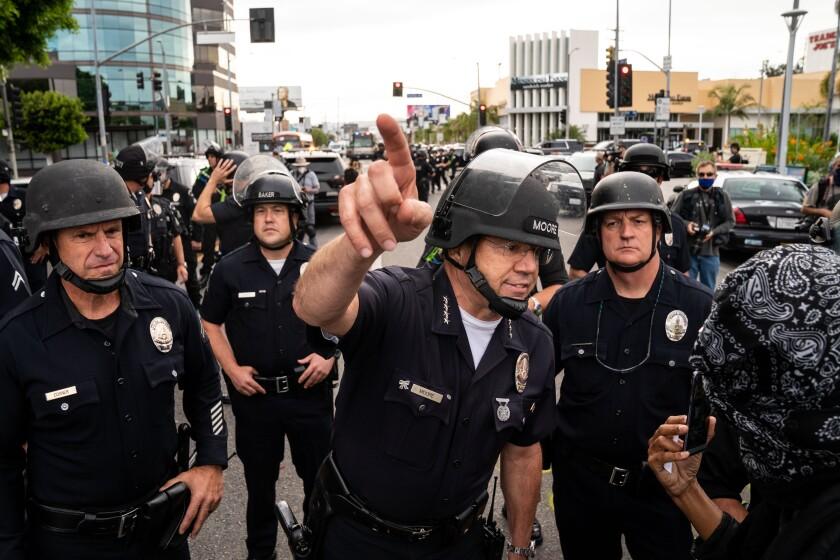 LAPD Chief Michel Moore