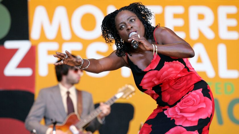 Soulful vocal dynamo Sharon Jones is shown performing at the 2006 Montreal Jazz Festival, a year after her San Diego debut concert at the Casbah.