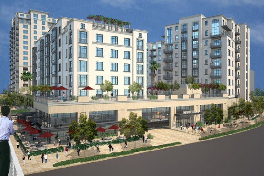 A rendering of the hotly contested commercial and residential project Casden West.