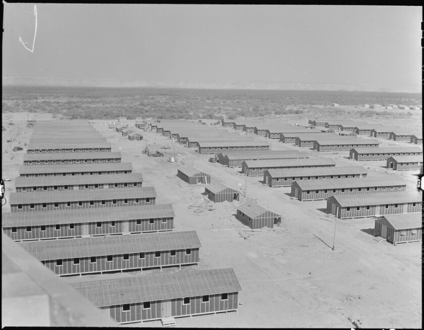 The look of the housing at Poston War Relocation Center leaves little doubt as to what kind of camp it really was.