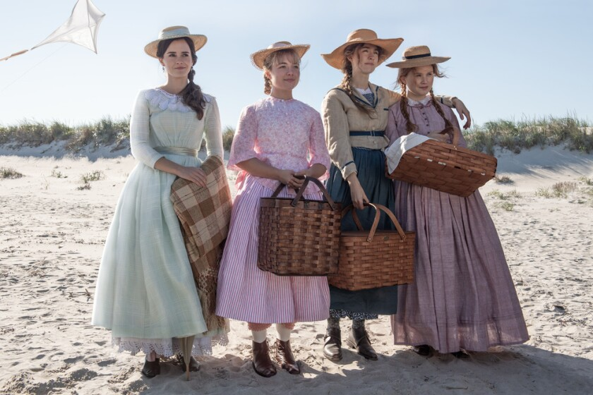 "Emma Watson, Florence Pugh, Saoirse Ronan, Eliza Scanlen as the March sisters in Greta Gerwig's ""Little Women"""