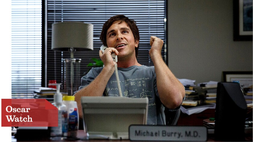 "Christian Bale plays a Wall Street outsider forecasting the 2008 financial crisis in ""The Big Short."""