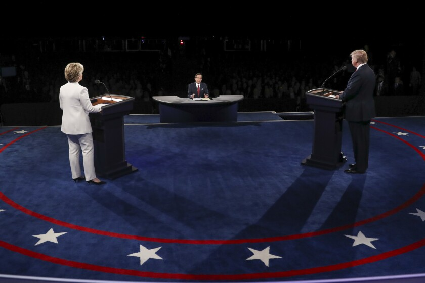 The debate stage in Las Vegas.
